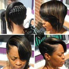 Black Asymmetrical Braided Hairstyle # Braids for girls black 70 Best Black Braided Hairstyles That Turn Heads Cool Braid Hairstyles, African Hairstyles, Straight Hairstyles, Black Hairstyles, Hairstyle Ideas, Girl Hairstyles, Updo Hairstyle, Hairstyles 2016, Protective Hairstyles