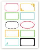 Free printable labels.  And the colors are customizable too!