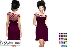 NY Girl Sims: Strapless Dress with Lace Crop Overlay • Sims 4 Downloads