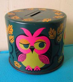 Vintage Owl Bank