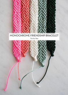 12 FEBRUARY DIYS – Monochrome Friendship Bracelet