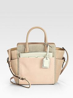 Reed Krakoff - Mini Atlantique Exotic Mixed-Media Satchel - Saks.com