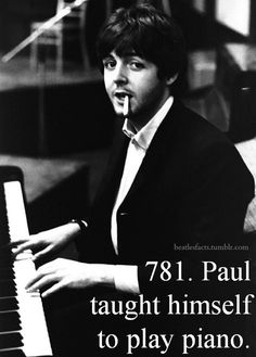 That's just how much talent he has. All of the songs he played piano too was his own teaching. :3 This is why I love him. <3