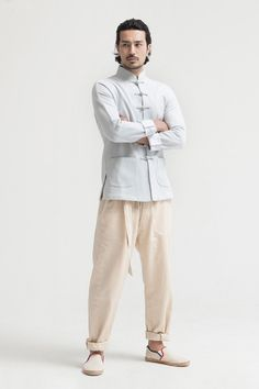 2014 Spring Men Clothing Cotton and Linen Kung Fu Jacket http://www.chinesefashionstyle.com/