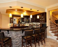 basement stone bar design pictures remodel decor and ideas - Basement Bar Design Ideas