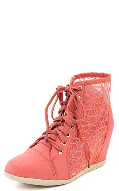 Hidden Lace High-Top Sneakers (Dark Rose)