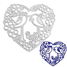 Julyshop HeartBird Cutting Dies for Scrapbooking Paper CardDIY Craft * More info could be found at the image url.Note:It is affiliate link to Amazon.