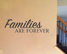 Families are Forever wall decal by BlackBirdVinylShop on Etsy