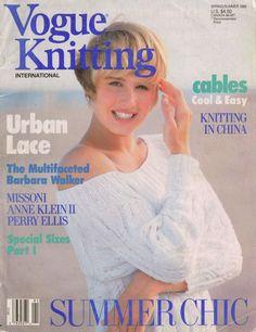 VOGUE KNITTING Spring Summer 1989 Urban Lace Designer Sweaters Patterns Missoni  #VogueKnitting