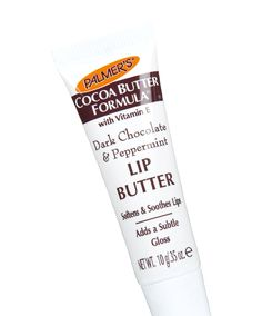 "No. 8: Palmers Cocoa Butter Formula Dark Chocolate and Peppermint Lip Butter, $2.99 TotalBeauty.com Average Member Rating: 9.4* Reviewers are head over heels for the product's thrifty price and scrumptious scent. ""It smells exactly like an Andes mint, has little-to-no taste, and feels fantastic on my lips,"" said one reader. ""My lips feel great after it wears off."""