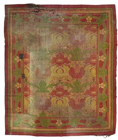 A Rather Worn Donegal Rug With Donemara Design Circa 1900 Sold In 2016 By