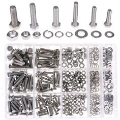 Hilitchi 510Pcs M4 / 5 / 6 Stainless Steel Metric Hex Flat Head Bolts Screws Nuts Flat and Lock Washers Assortment Kit, 2016 Amazon Hot New Releases Fasteners  #Industrial