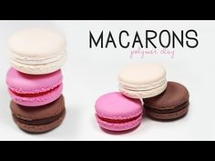 polymer clay Macaron TUTORIAL - YouTube