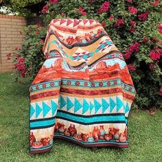 Beautiful Southwest row quilt