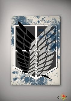 Attack On Titan The Survey Corps Emblem 8x10 Archival Print - Art Print - Wall Decor- Art- Poster- Anime Print - Manga -Cartoon on Etsy, 62,50 zł