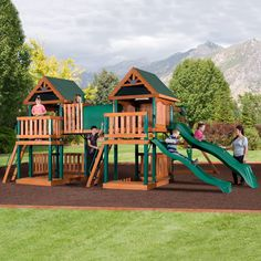 Montana Wooden Swing Set – Backyard Discovery