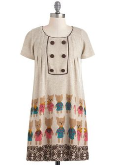 I NEED A CAT DRESS.  Paws-itively Pals Dress, #ModCloth