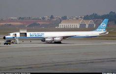 VASP Cargo, Douglas DC-8-71(F) - PP-SOP - Guarulhos International (Cumbica) (GRU / SBGR) Brazil -1991 (photo Carlos A. Morillo Doria)