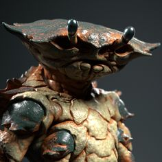 Spoiler Free Movie Sleuth: Images: Crustaceans, Marauders, & Droids: A Collection Of Wild Sci-Fi Concept Art & Models From Paul Braddock Alien Creatures, Fantasy Creatures, Sea Creatures, Alien Concept Art, Fantasy Concept Art, Aliens, Character Concept, Character Art, Character Design