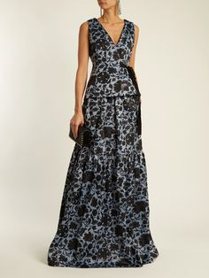 Click here to buy Erdem Azure side-tie floral-jacquard top at MATCHESFASHION.COM