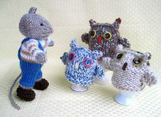 Flutterby Patch: FREE PATTERN - Owl egg cosies