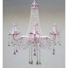 pink crystal shabby chic things your paris market pink beaded shabby chic chandelier - Shabby Chic Chandelier
