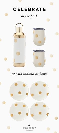 because gold dots make everything a celebration. shop now. Cute Kitchen, Gold Dots, Kitchen Collection, Southern Style, Tailgating, Sunglasses Case, Favorite Things, Shop Now, Sweet Home