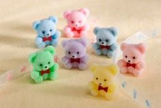 These cute favors feature tiny multicolored bears with red bow ties and flocked fur. These cute bear flocked favors are a fun addition for your upcoming Baby Shower. Contains 6 favors . 90s Childhood, My Childhood Memories, Sweet Memories, Retro Toys, Vintage Toys, Retro Vintage, Toy History, British History, 80s Kids