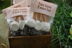 Take home S'more fun #woodland #party #favors