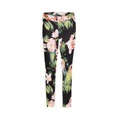 Yoins Yoins Floral Print Trousers ($21) ❤ liked on Polyvore featuring pants, yoins, floral trousers, floral pants, flower print pants, floral print pants and floral printed pants