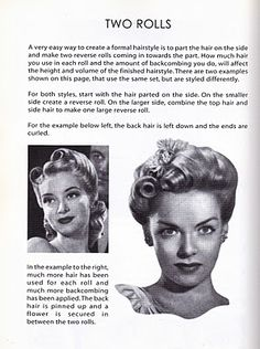 ~Temperamental Broad~Vintage and Rockabilly Blog: Vintage Hairstyle I've always wondered how to do this