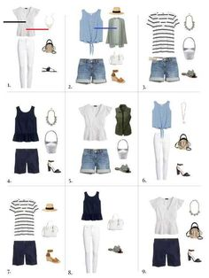 31 Summer Capsule Wardrobe Ideas » - #summerwardrobe - From minimalist collections to vacation packing, having a summer capsule wardrobe is sure to make your long summer days a whole lot easier.... 20s Fashion, Look Fashion, Autumn Fashion, Fashion Trends, Feminine Fashion, Fashion Night, Ladies Fashion, Womens Fashion Outfits, Fashion Clothes