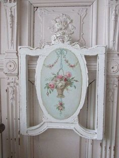 Romantic Shabby Chic, Shabby Chic Frames, Shabby Chic Decor, Chabby Chic, Shabby Chic Couture, French Baskets, Shabby Chic Painting, Floral Theme, Hand Painted Furniture