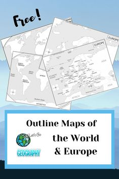 Get FREE outline & blank maps of the world & the continent of Europe from Let's Go Geography. Share with friends! #outline maps #blankmapoftheworld #freemaps #blankcontinentmaps