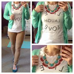 Outfit. Ootd. Work wear. Teacher wardrobe. Camel, hot pink ...
