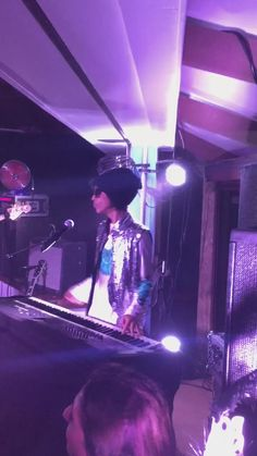 Prince • 2013-2016 AOA—PHASE 1—PHASE 2—Piano & Microphone Eras - playing his Yamaha XF8.♪♫♥♫♫♥♥♫♥J