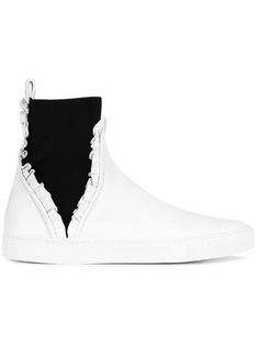 CEDRIC CHARLIER Slip-On Ruffled Hi-Tops. #cedriccharlier #shoes #hi-tops