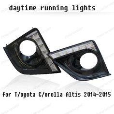Car Styling DRL for T/oyota C/orolla DRL Altis 2014-2015 LED Signal drl Daytime Running Light bumper driving fog lamp cover