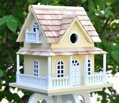 Cottage+Birdhouse | Home Bazaar Cape May Cottage Birdhouse (Yellow)