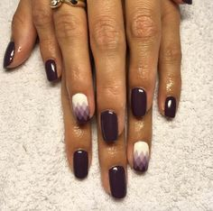 Purple ombre geometric nails by Karolina