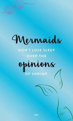 Don't loss sleep over a shrimp.