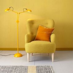 Habitat Texture Printed Wallpaper - Mustard Yellow at Homebase -- Be inspired and make your house a home. Buy now. Print Wallpaper, Colorful Wallpaper, Mustard Wallpaper, Color Depth, Colour, Mustard Yellow, Habitats, Love Seat, Accent Chairs