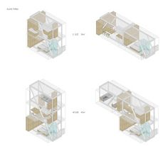 New typology-housing building- Copenhagen-BORYS Typology Architecture, Architecture Graphics, Architecture Drawings, Homeless Housing, Axonometric Drawing, Architect Drawing, Social Housing, Interesting Buildings, House Layouts
