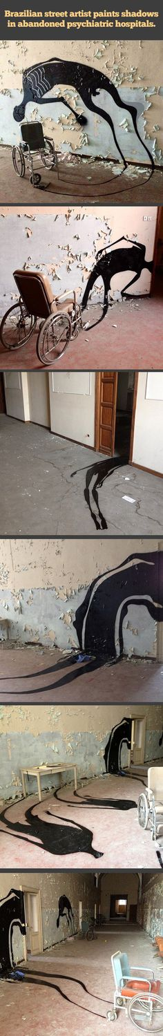 Shadows in abandoned psychiatric hospitals…so that's horrifying. los rastros de la gente, ¡c{omo son,? como los hacemos aparecer?