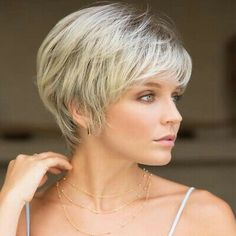 Haircut For Older Women, Haircuts For Fine Hair, Short Hairstyles For Women, Wig Hairstyles, Short Hair Older Women, Short Straight Hairstyles, Cute Pixie Haircuts, Short Shag Haircuts, Short Female Haircuts