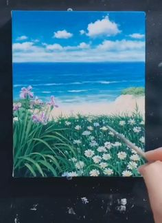 Watercolor Paintings Nature, Small Canvas Paintings, Diy Canvas Art, Acrylic Painting Canvas, Landscape Paintings, Palm Tree Paintings, Cute Canvas, Watercolor Artists, Indian Paintings