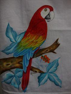 pintura de arara. Cool Art Drawings, Bird Drawings, Pencil Art Drawings, Glass Painting Designs, Fabric Paint Designs, Basic Painting, Pyrography Patterns, Butterfly Drawing, Mural Wall Art
