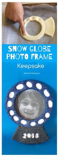 Snow Globe Photo Frame Keepsake Make a lovely snow globe keepsake this winter with salt dough!