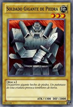 Yu-Gi-Oh! - Giant Soldier of Stone - Yugi's Legendary Decks - Edition - Common -- Instant discounts available : FREE Toys and Games Yu Gi Oh, Custom Yugioh Cards, Yugioh Decks, Yugioh Monsters, Yugioh Collection, Kobold, Monster Cards, Pokemon Pictures, 6th Birthday Parties
