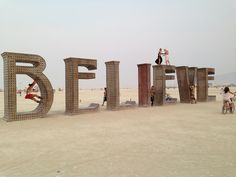 50 of the coolest Burning Man art installations ever [pics] BELIEVE by Laura Kimpton and Jeff Schomberg, 2013 Read more at http://matadornetwork.com/nights/12-coolest-art-installations-in-the-history-of-burning-man/#bbHsr0b2Hw953XDJ.99